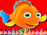 Рыбки: Книга Раскрасок