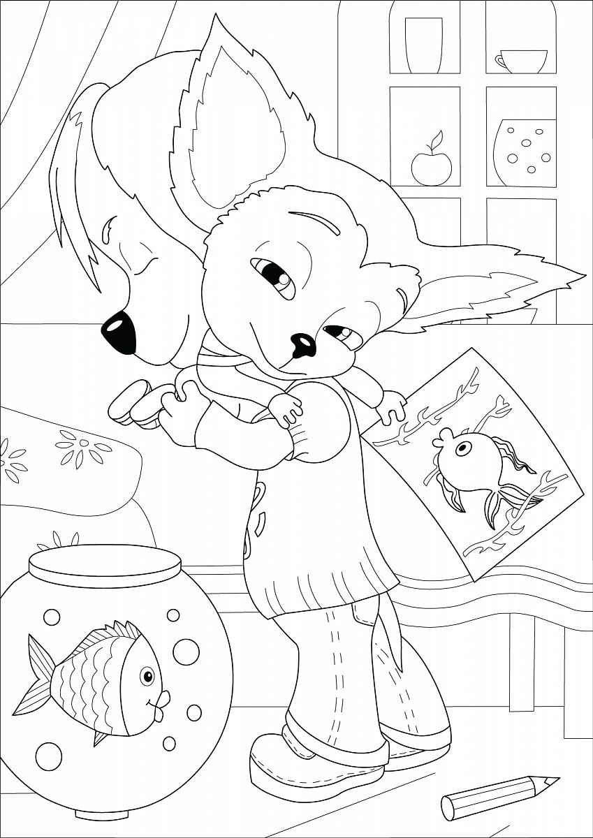 Раскраски для девочек малыш барбоскины