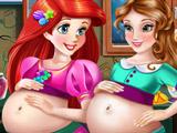 Беременные Ариэль и Белль