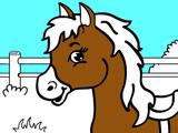 Раскраска для Малышей: Лошадка