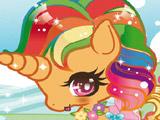 Разноцветный Единорог – Одевалка