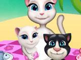 Кошка Анжела на Пикнике