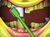 Губка Боб Чистит Зубы