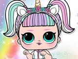 Раскраска Куклы Лол: Единорожка