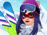 Леди Баг Катается на Лыжах
