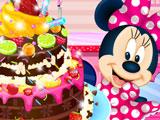 Минни Маус Печёт Шоколадный Торт