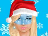 Новогодний Рисунок на Лице