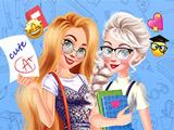 Эльза и Рапунцель Снова в Школе