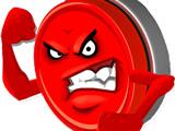 Сердитая Красная Кнопка