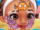 Малышка Моана: Фейс-арт на Лице
