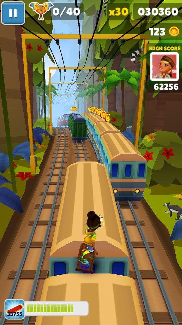 Скачать игру Subway Surf на Андроид телефон